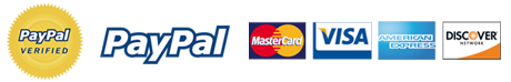 We accept cash, checks, Visa, MasterCard, Discover and American Express.